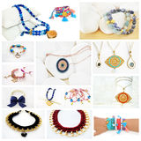 Photo collage of greek jewelry Stock Photography