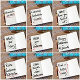 Photo collage of handwritten business motivational messages Royalty Free Stock Photo