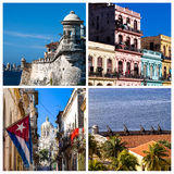 Photo collage from Havana in Cuba Royalty Free Stock Photos