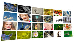 Photo-collage isolated. On white background stock photo