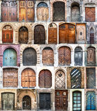 Photo collage of old doors Stock Images