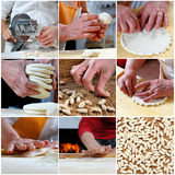 Photo collage of pasta products Stock Image