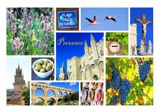 Photo collage Provence, France royalty free stock photos