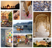 Photo collage of Rajasthan Stock Image