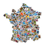 Photo collage in the shape of France Stock Photos
