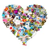 Photo collage in the shape of a heart Royalty Free Stock Photography
