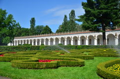 Colonnade. Photo of a colonnade in a french flower garden from 17. century in Kroměříž, which is in UNESCO list Stock Photography