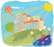 Photo colorée de la vie urbaine Photographie stock libre de droits