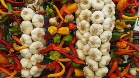 Photo colorée des épices sèches sur le marché Images stock