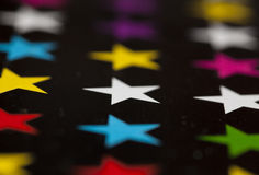 Photo of colored stars n a black Royalty Free Stock Images
