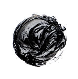 Photo of colorful black brush stroke oil paint Royalty Free Stock Images