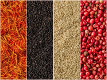Photo of colorful mix stripes with spices backgrounds Stock Image