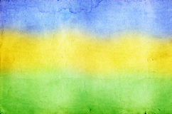 Photo with the colors of the Brazil flag Royalty Free Stock Photos