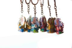 Colourful Key hangings. This is a photo of Colourful key hangings with vibrant colours anf=d unique look royalty free stock photos