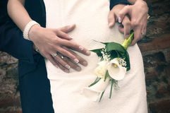 Photo commune du jour du mariage photo stock