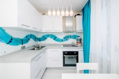 Photo of the light kitchen room royalty free stock photos