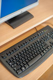 Photo of computer in classroom or other educational institution Royalty Free Stock Photos