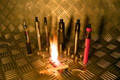 Vape Pen Revolution Concept stock illustration