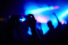 Photo at the concert Royalty Free Stock Images