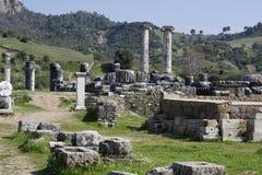 The Temple of Artemis, Sardis, Manisa, Turkey stock photos
