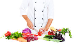 Photo of cook preparing salad Royalty Free Stock Photos