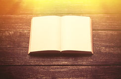Photo of cool empty notebook on the wonderful brown woodn backgr Stock Photos