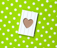 Photo of cool postcard on the wonderful green dotted background Royalty Free Stock Photography