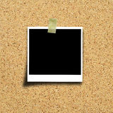 Photo on cork board background Royalty Free Stock Images