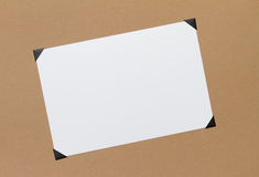 Photo with corners. Blank photo or photograph with corners royalty free stock photos