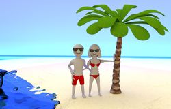 Photo of couple on tropical vacation at the seaside Stock Image