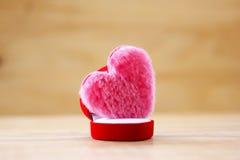 Photo courante : Coussin de forme rose de coeur Images libres de droits