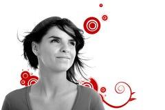 Photo courante d'un jeune joli femme illustration de vecteur