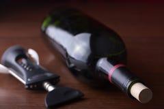 Photo courante d'une bouteille de vin photographie stock