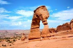 Photo courante de formation de roche rouge, stationnement national de voûtes Photos stock