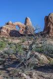 Photo courante de formation de roche rouge, stationnement national de voûtes Photo stock
