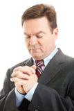 Photo courante de la prière d'homme d'affaires images stock