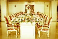 Photo courante - pièce et salon grands de luxe de Dinning Images stock