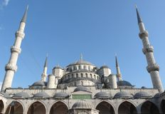 The Blue Mosque. Photo courtyard of the Blue Mosque Royalty Free Stock Photo