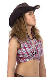 Photo of cowgirl looking into the distance Royalty Free Stock Photo