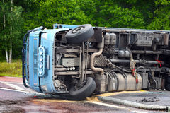 Crashed truck Stock Image