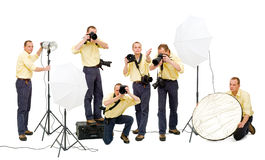 Photo crew Stock Photography