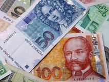 Photo of Croatian banknotes Royalty Free Stock Images