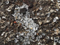 Photo of crushed glass royalty free stock image