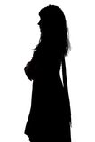 Photo of curvy woman's silhouette in profile Stock Image