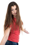 Photo of cute confused teenage girl Royalty Free Stock Images