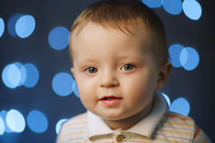 Photo of cute little boy Stock Images