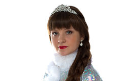 Photo of cute snow maiden Royalty Free Stock Photo