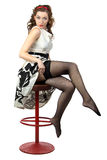 Photo of the cute woman wearing stockings Royalty Free Stock Image
