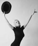 Photo désaturée de femme avec le chapeau Photo libre de droits