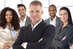 Photo d'équipe des hommes d'affaires réussis image stock